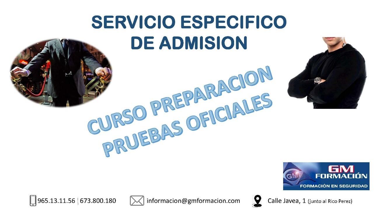 SERVICIO ESPECÍFICO DE ADMISIÓN